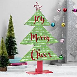 Joy Merry Cheer Tabletop Christmas Tree