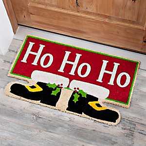 Santa Feet Ho Ho Ho Doormat