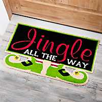 Elf Feet Jingle All The Way Doormat