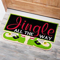 Elf Feet Jingle All The Way Door Mat