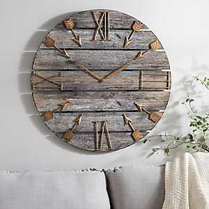Harper Wood Plank Wall Clock