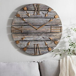 Harper Wood Plank Wall Clock