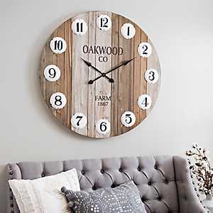 Oakwood Co. Pallet Wall Clock