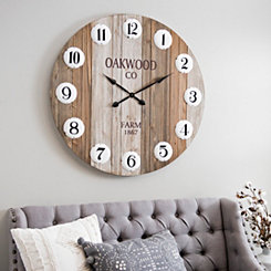 Oakwood Co. Pallet Wall Clock