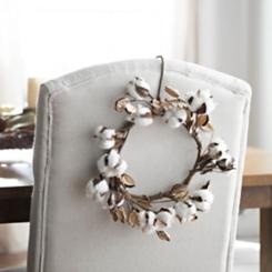 Mini Cotton Wreath, 10 in.