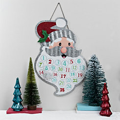 Metal Santa Christmas Countdown Plaque