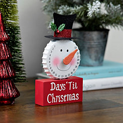 Red Snowman Days Til Christmas Countdown