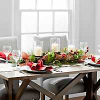 Red and Green Glitter Mesh Centerpiece