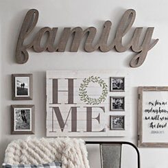 Driftwood Family Word Plaque