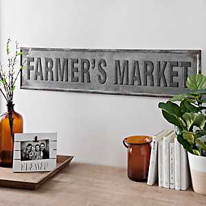Farmer's Market Metal Wall Sign