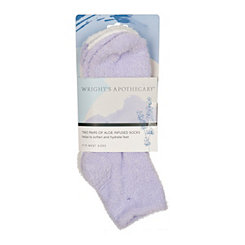Purple Super Soft Aloe Infused Socks