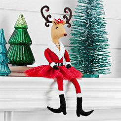 Mrs. Reindeer Santa Suit Sitter
