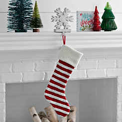 Knit Striped Red Stocking