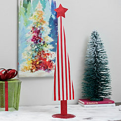 White And Red Striped Tree