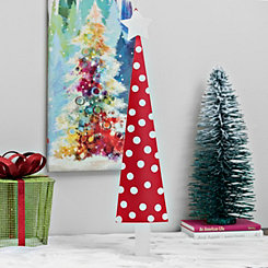 Red With White Polka Dots Metal Tree