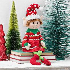 Plush Girl Elf Sitter