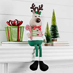 Polka Dot Reindeer Shelf Sitter