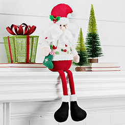 Polka Dot Santa Shelf Sitter