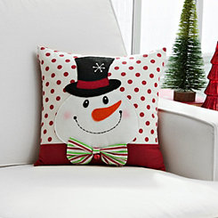 3D Detail Snowman Pillow