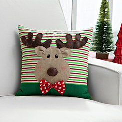 3D Detail Reindeer Pillow