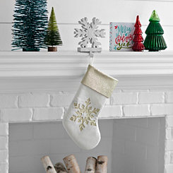 Gold Glitter Snowflake Stocking