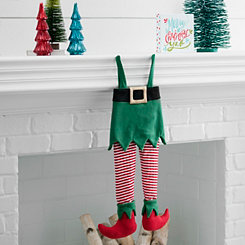 Fabric Elf Leg Stocking