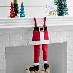 Fabric Santa Leg Stocking