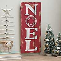 Noel Red Wooden Wall Plaque