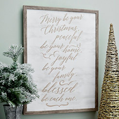 Sentimental Script Framed Christmas Wall Plaque