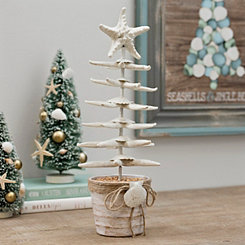 Seashell Christmas Tree with Starfish Topper