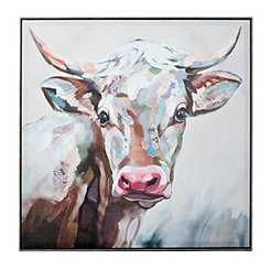 Cow Framed Canvas Art Print