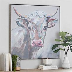 Cow Framed Canvas Art Print