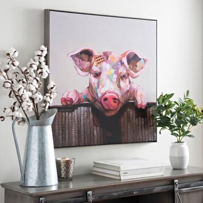 Pig Framed Canvas Art Print