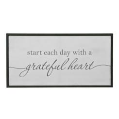 Grateful Heart Framed Canvas Art Print