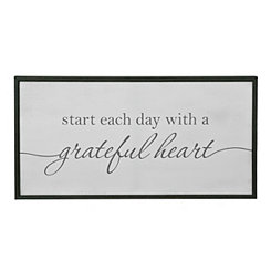 Grateful Heart Framed Canvas Art Print