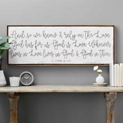 God is Love Framed Canvas Art Print