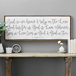 God is Love Framed Canvas Art Print