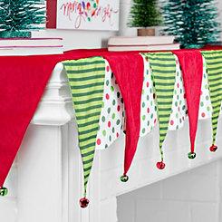 Polka Dot Christmas Bell Mantel Scarf