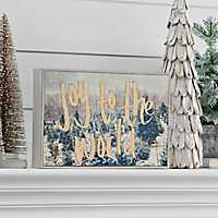 Joy To The World Framed Christmas Wall Plaque