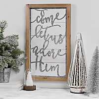 O Come Cutout Shiplap Framed Christmas Wall Plaque