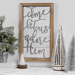O Come Cutout Shiplap Framed Christmas Wall Plaque