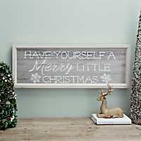 Merry Little Christmas Framed Wall Plaque
