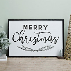 Merry Christmas Framed Wall Plaque