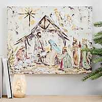 Full Nativity Canvas Art Print