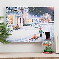 Lightbox Christmas Eve LED Canvas Art Print