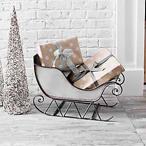 Galvanized Metal Christmas Sleigh