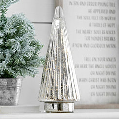 Pre-Lit Mercury Glass Tree, 15 in.
