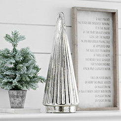 Pre-Lit Mercury Glass Tree, 22 in.
