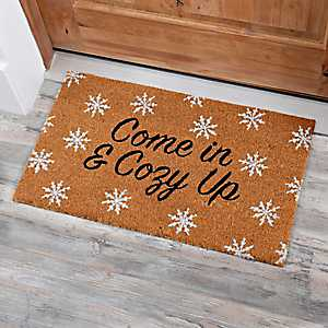 Coir Fiber Come In and Cozy Up Christmas Mat