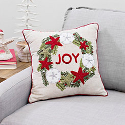 Coastal Joy Wreath Pillow